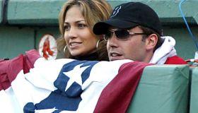 Ben Affleck And Jennifer Lopez Attend Red Sox Game