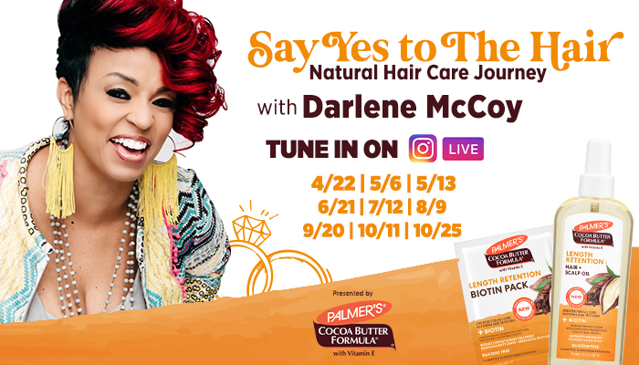 Feature Graphic - Say Yes to the Hair | Natural Hair Care Journey w/ Darlene McCoy