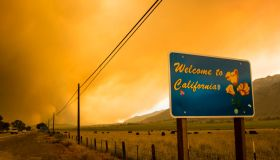 A sign welcoming people to California seen in front of the...