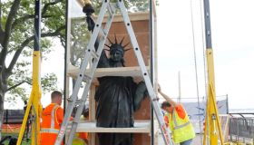 """The """"Little Sister"""" of the Statue of Liberty on Display at Ellis Island in New York City"""