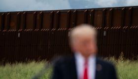 Former President Donald J. Trump and Governor Greg Abbott tour Border Wall