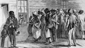 The Freedmen's bureau, started by the Republicans, was the Federal Governments first big venture into relief.